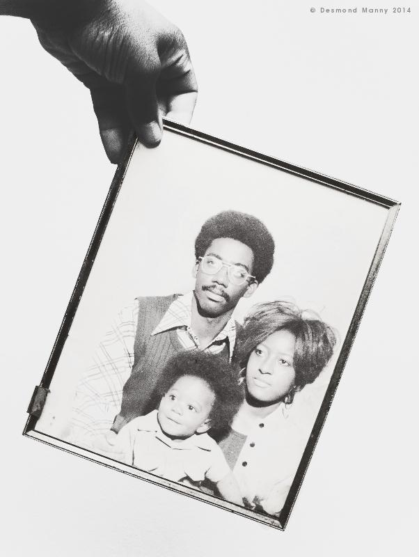 Portrait of Family in 70's Regalia - April 2014