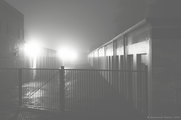 Storage Units by Night/Fog - October 2014